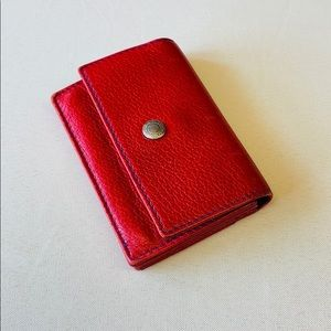 Coach   Red Leather Wallet Card Holder